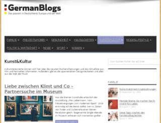 kunst.germanblogs.de screenshot
