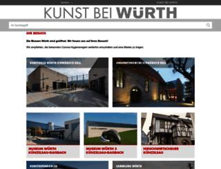kunst.wuerth.com screenshot