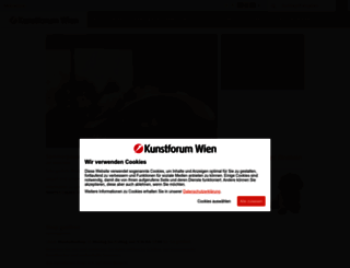 kunstforumwien.at screenshot