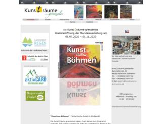 kunstraeume-grenzenlos.de screenshot