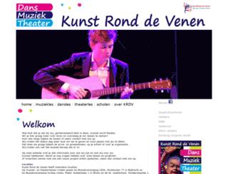 kunstronddevenen.nl screenshot