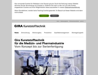 kunststofftechnik.gira.de screenshot