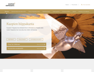 kuopionhiippakunta.fi screenshot