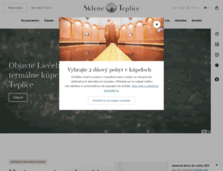 kupele-skleneteplice.sk screenshot