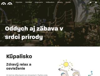 kupelezelenazaba.sk screenshot