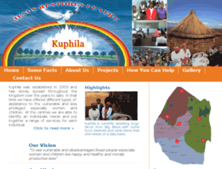 kuphila.org.sz screenshot