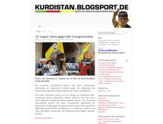 kurdistan.blogsport.de screenshot