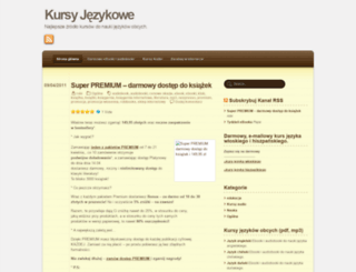 kursyjezykowe.wordpress.com screenshot