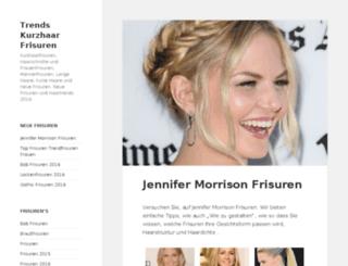 kurzhaarfrisurenneu.com screenshot