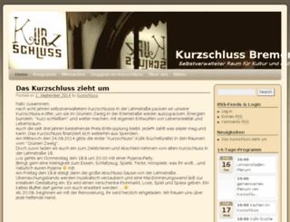 kurzschluss-bremen.de screenshot