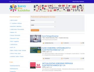 kurzyprekazdeho.sk screenshot