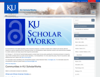 kuscholarworks.ku.edu screenshot