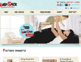 kushsackbeanbagchairs.com screenshot