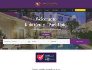 kutacentralparkhotel.com screenshot