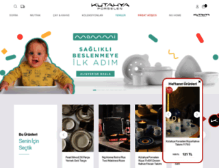 kutahyaporselen.com screenshot