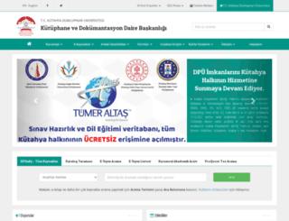 kutuphane.dpu.edu.tr screenshot