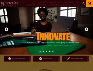 kutztown.edu screenshot
