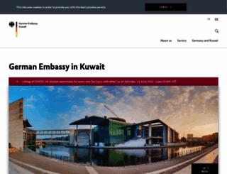 kuwait.diplo.de screenshot