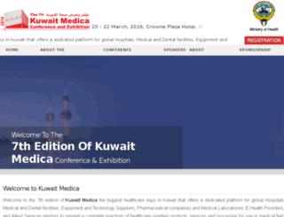 kuwaitmedica.com screenshot