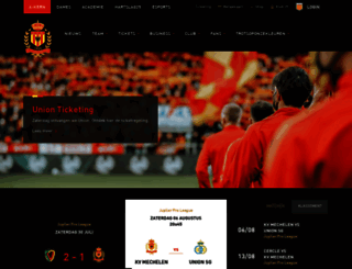 kvmechelen.be screenshot