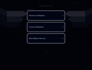 kvradiators.com screenshot