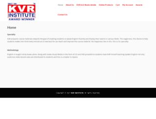 kvrinstitute.com screenshot