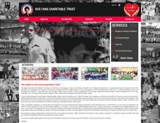 kvsfanscharitabletrust.com screenshot