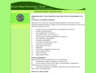 kwarapoly.edu.ng screenshot