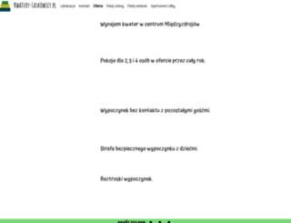 kwatery-laskowscy.pl screenshot