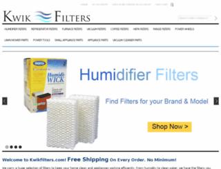 kwikfilter.com screenshot