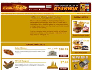 kwikmeals.com screenshot