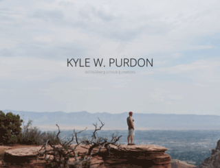 kylepurdon.com screenshot