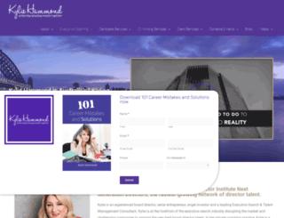 kyliehammond.com.au screenshot