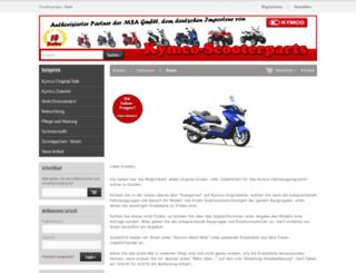 kymco-scooterparts.de screenshot