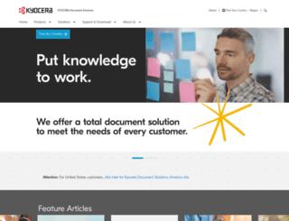 kyoceradocumentsolutions.com screenshot