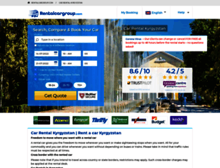 kyrgyzstan.rentalcargroup.com screenshot