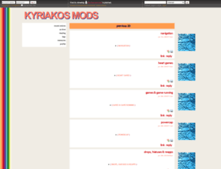 kyriakosmods.dreamwidth.org screenshot