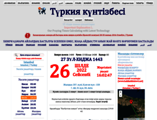 kz.turktakvim.com screenshot