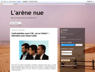 l-arene-nue.blogspot.fr screenshot