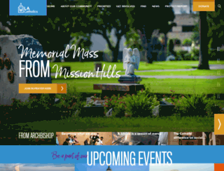 la-archdiocese.org screenshot