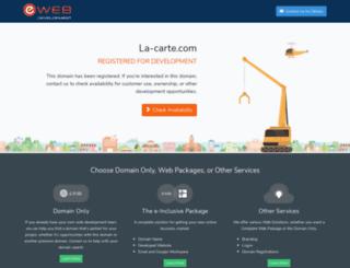 la-carte.com screenshot