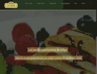 la-crepe.fr screenshot