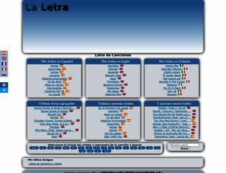 la-letra.com screenshot