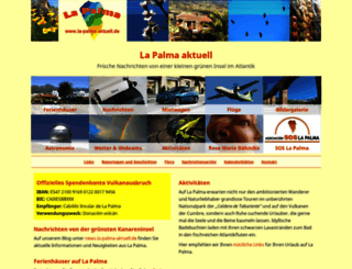 la-palma-aktuell.de screenshot