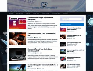 la-television-connectee.fr screenshot