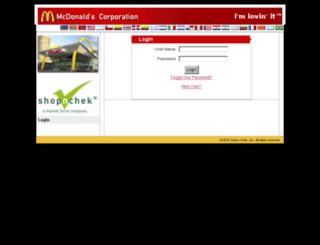la.mcdonalds.shopnchek.com screenshot
