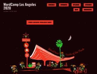 la.wordcamp.org screenshot