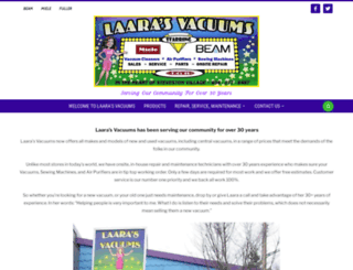 laarasvacuums.com screenshot