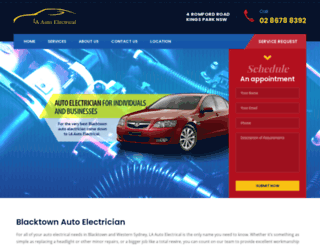 laautoelectrical.com.au screenshot