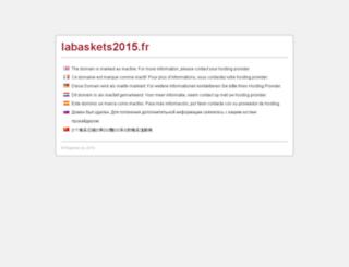 labaskets2015.fr screenshot